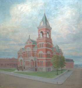 Old Macomb County Building, (painting)