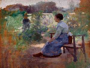 Woman Seated in a Garden