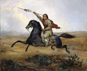 Ko rak koo kiss, a Towoccono Warrior, (painting)