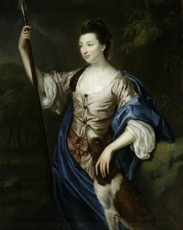 Wikioo.org - The Encyclopedia of Fine Arts - Painting, Artwork by Robert Hunter - Lady Margaret Butler Lowry Corry (1748–1775), as Diana