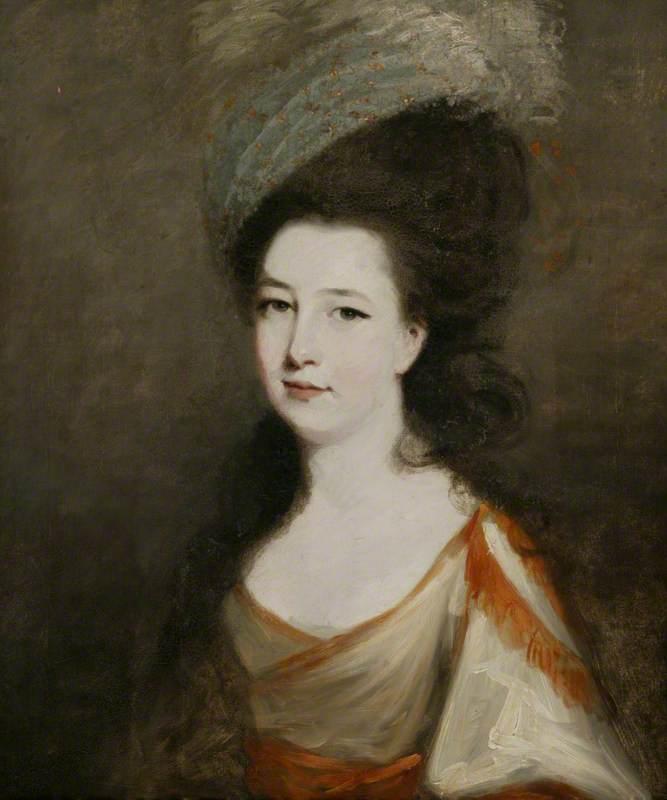 Wikioo.org - The Encyclopedia of Fine Arts - Painting, Artwork by Robert Hunter - Mrs Laetitia Christina Sheridan