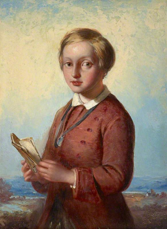 Wikioo.org - The Encyclopedia of Fine Arts - Painting, Artwork by James Eckford Lauder - Portrait of a Boy