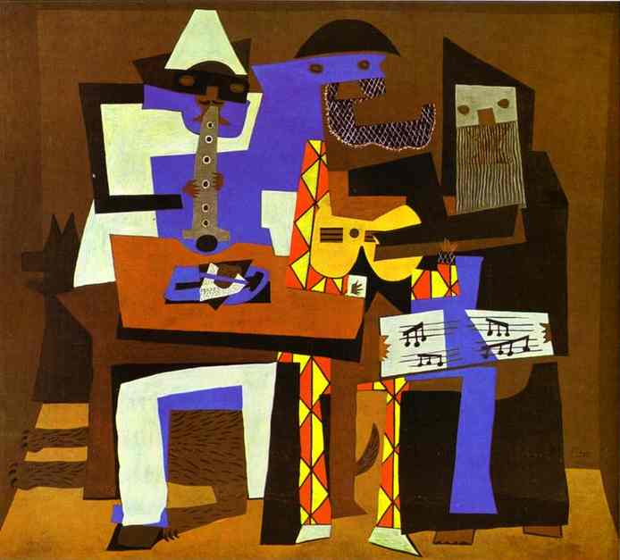 Wikioo.org - The Encyclopedia of Fine Arts - Painting, Artwork by Pablo Picasso - Three Musicians