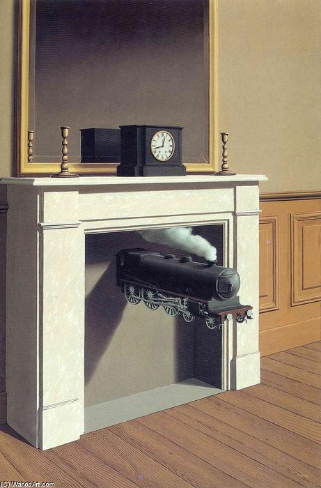 Wikioo.org - The Encyclopedia of Fine Arts - Painting, Artwork by Rene Magritte - Time transfixed