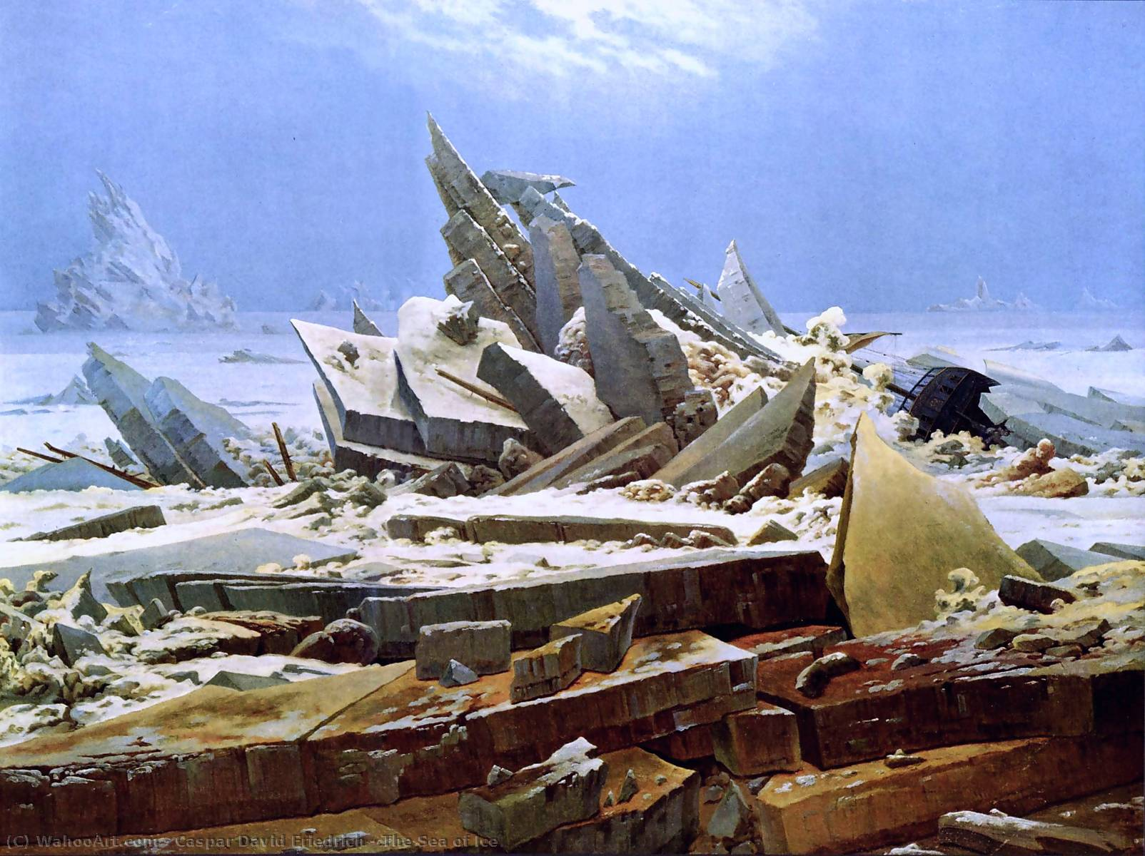 Wikioo.org - The Encyclopedia of Fine Arts - Painting, Artwork by Caspar David Friedrich - The Sea of Ice