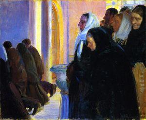 Communion in Skagens Church - Anna Ancher