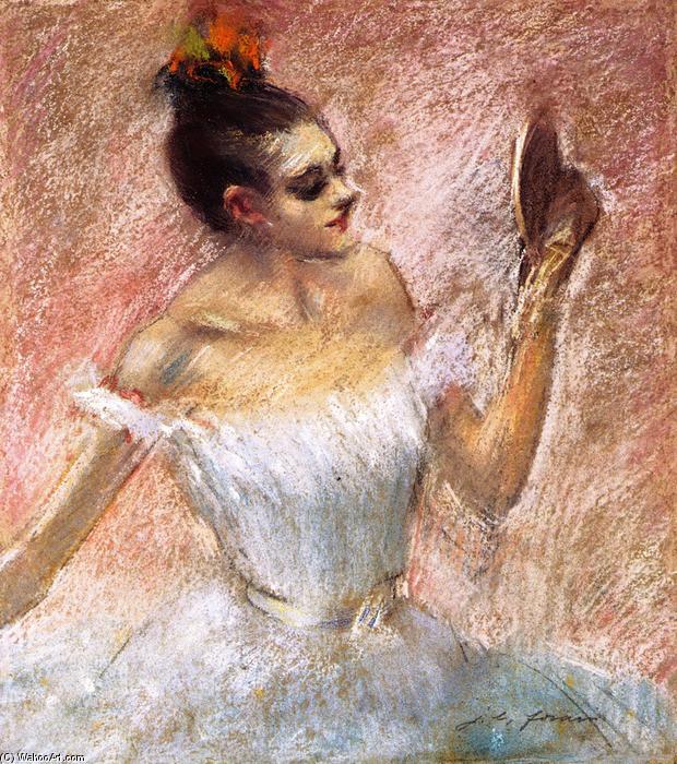 Danseur avec un miroir dessin de jean louis forain 1852 for Miroir kat von d