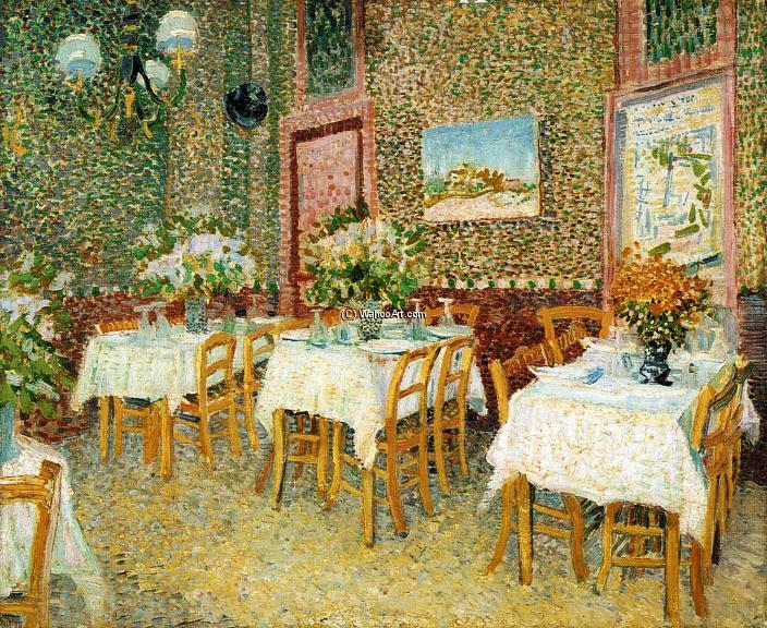 Int rieur d 39 un restaurant huile sur toile de vincent van gogh 1853 1890 netherlands - Van gogh comedores de patatas ...