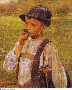 Boy Smoking - Georgios Jakobides
