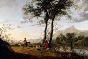 a road near a river - Aelbert Jacobsz Cuyp