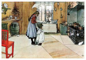 the kitchen - Carl Larsson