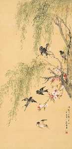 Wikioo.org - The Encyclopedia of Fine Arts - Artist, Painter  Wu Qingxia