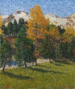 Wikioo.org - The Encyclopedia of Fine Arts - Artist, Painter  Gottardo Segantini